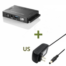 USB 3.0 to IDE + SATA HDD SSD Hard Drive Converter Cable Adapter for 2.5 3.5inch Hard Disk - US Plug