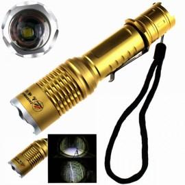 ZSJ-T28 T6 Focusing LED 1000LM 3-Mode Flashlight White Light 1 x 18650