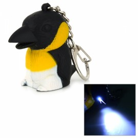 Cute Tiny Crow Style LED White Light Keychain with Sound Effect