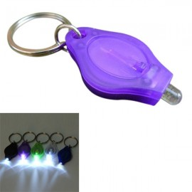 Mini 12 Lumens LED Keychain Flashlight for Camping Hiking - Purple
