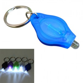 Mini 12 Lumens LED Keychain Flashlight for Camping Hiking - Blue