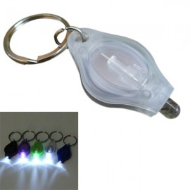 Mini 12 Lumens LED Keychain Flashlight for Camping Hiking - White