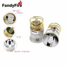 FandyFire 26.5mm 5 Modes Plug-in Style 501B / 502B C2.504B Module W / OP Reflector for Flashlight Silver & Golden