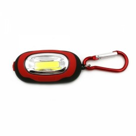 Mini Portable Magnetic Torch COB LED KeyChain Light Camping Red