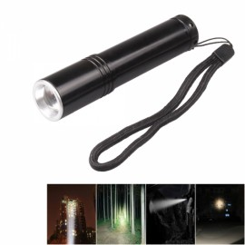 XM-L 700LM 3 Modes Mini White Light Flashlight with Charger and Battery Black