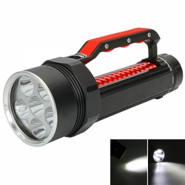 L2 6-LED White Light Waterproof Adjustable Diving Flashlight with Magnetic Control Black & Red