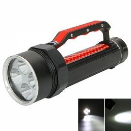 XML-L2 4-LED 6000LM Stepless Adjustment Magnetic Control Waterproof Diving Flashlight Black & Red