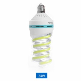 E27 24W LED Bulb COB Spiral Shape White Energy Saving Corn Light Lamp (AC85-265V)