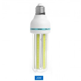 E27 20W LED Corn Light Bulb COB U Shape Energy Saving Light Pure White