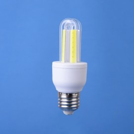 E27 3W LED Corn Light Bulb Energy Saving Light COB U Shape Pure White