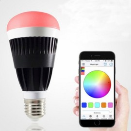 E27 10W Warm White + RGB Light Smart Dimmable Bluetooth LED Bulb