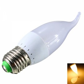 E27 3W 10 x 2835SMD LED 280LM 2800-3200K Warm White Light Candle Tail Lamp