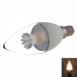 E14 C37 5W 400-420LM COB LED 3000K Warm White Light Candle Lamp Bulb (AC 100-240V)