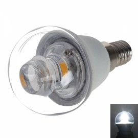 E14 P45 5W 400-420LM COB LED 6000K White Light Candle Lamp Bulb (AC 100-240V)
