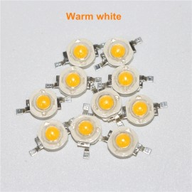 5pcs 5W High Power LED Chip Lamp Light Beads Diode With 120Degree Lens - Warm White