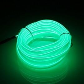 5M EL Led Strip Light Flexible Soft Tube Wire Neon Glow Car Rope Green