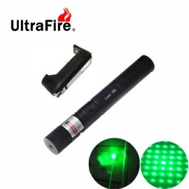 Ultrafire 4mW 532nm Star Green Light Laser Pointer - Black