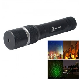 4mW 532nm Green Beam Adjustable Focus Laser Flashlight Set Black