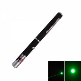 4mW 532nm Mid-open Green Laser Pointer Pen Black (2*AAA)