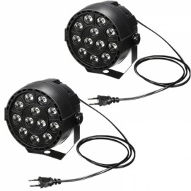 2pcs 12W 12 LED RGB Party Stage Light Disco Club Projector Light EU Plug