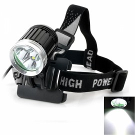 "3-LED T6 ""2800LM"" 4-Mode White Light Aluminum Alloy Outdoor Headlamp Black & Silver"