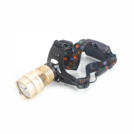 TEEKLAND 600LM 3 Mode LED Headlight Spotlight for Camping Hunting Golden