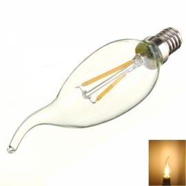 E14 2W 160LM 2700K Warm White Light LED Filament Candle Bulb (AC 220V)