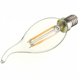 E14 4W 360LM 6000K White Light COB LED Filament Candle Bulb (AC85-265V)