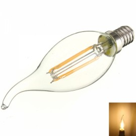 E14 4W 360LM 3000K Warm White Light COB LED Filament Candle Bulb (AC110V)