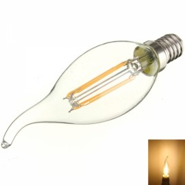 E14 4W 360LM 3000K Warm White Light COB LED Filament Candle Bulb (AC85-265V)