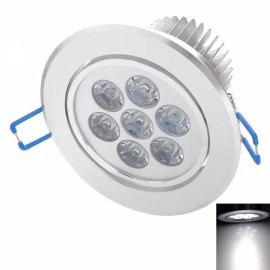 THD-G726 7W 600LM 6500K White 7-LED Ceiling Light Silver (89~265V)