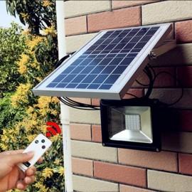 20W 40 LED Solar Powered Panel Flood Light Outdoor Garden Wall Spot Lamp