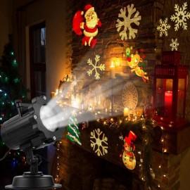 16 Slides LED Landscape Projector Light Dynamic Projection Lamp - UK Plug