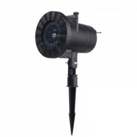 12 Patterns 4 LED Projector Light Stage Light Motion Rotating Spot Light - UK Plug