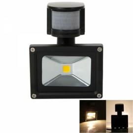 10W IP65 Waterproof PIR 3000-3500K Warm White LED Flood Light Outdoor Landscape Garden Lamp Black (AC 90-260V)