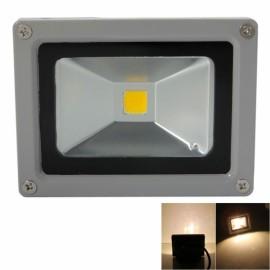 10W 3000-3500K Warm White Light Aluminium Alloy LED Flood Light with IP65 Waterproof Gray