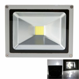 20W 6000-6500K White Light Aluminium Alloy LED Flood Light with IP65 Waterproof Gray