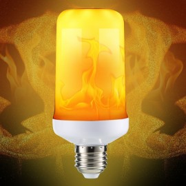 E27 5W Three Modes Yellow SMD2835 99LEDs Flame Light Bulb with Gravity Sensor