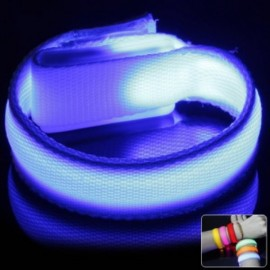 Outdoor LED Bracelet Flashing Wristband Sports Party Fun 3 Mode - Blue