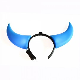Fashion Ox Horn Style Christmas Festivals Flashing LED Light Blue