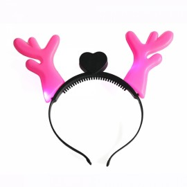LED Light Fashion Antler Style Christmas Festivals Flashing Lamp Pink