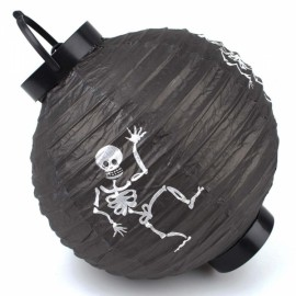Halloween LED Paper Pumpkin Hanging Lantern Holiday Party Decoration Black