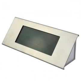 Solar Powered House Number Light 2 Highlight LED Outdoor Garden Doorplate Lamp Silver Gray