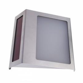 Stainless Steel Solar Powered 3-LED Illumination Doorplate Lamp House Number Light Outdoor Lighting