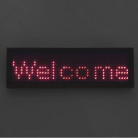 Programmable LED Digital Scrolling Tag Red Number & Black Shell