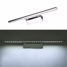 Stainless Steel Waterproof LED Make-up Wall Mirror Light w/ Switch 7W White Light