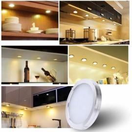 LED Under Cabinet Lighting Kit 10W 1000lm Puck Lights Under Counter Lighting Kitchen Closet Light Set of 4 - Warm White UK Plug