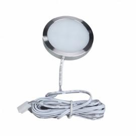 LED Under Cabinet Lighting Kit 15W 1500lm Puck Lights Under Counter Lighting Kitchen Closet Light Set of 6 - Cool White EU Plug