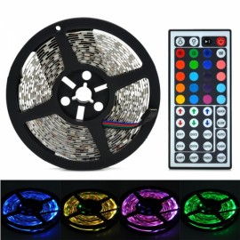 72W 4000lm 300-5050 SMD LED RGB Light Decorative Strip with Mini Control Black & White