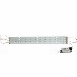 30cm 24W 5730 LED Bar Strip Light w/ Power Driver + Magnetic Holder White Light